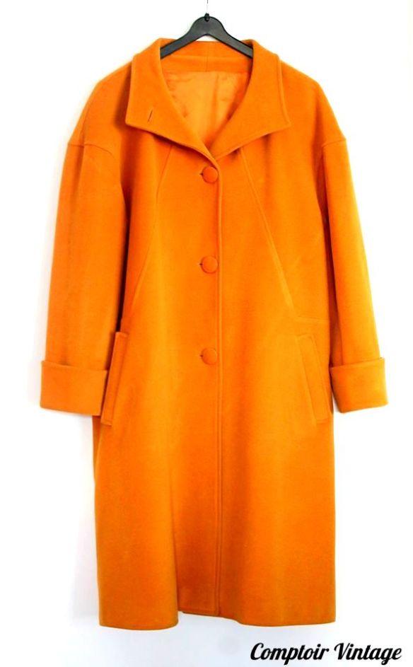 Manteau Vintage laine, cachemire et angora