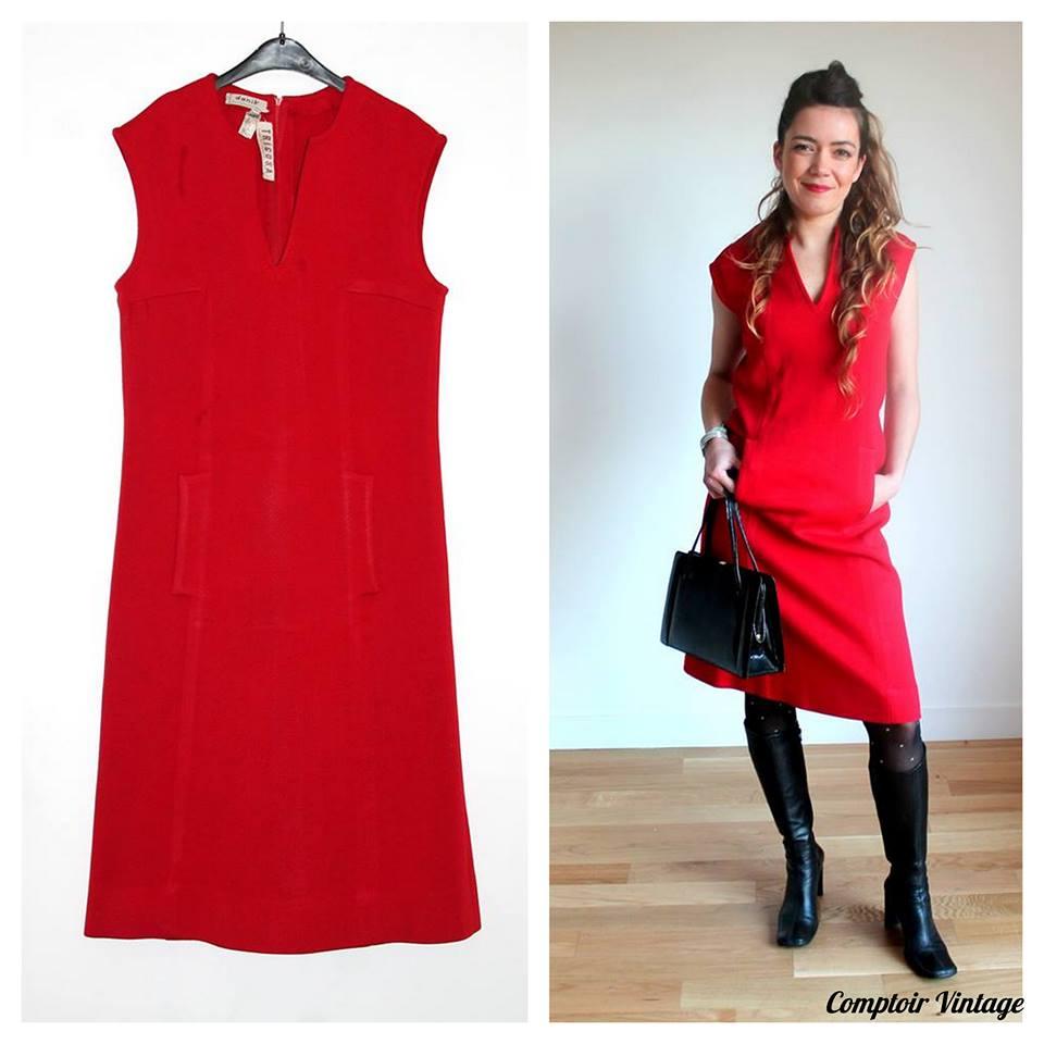 robe chasuble rouge femme robes de mode de 2018. Black Bedroom Furniture Sets. Home Design Ideas