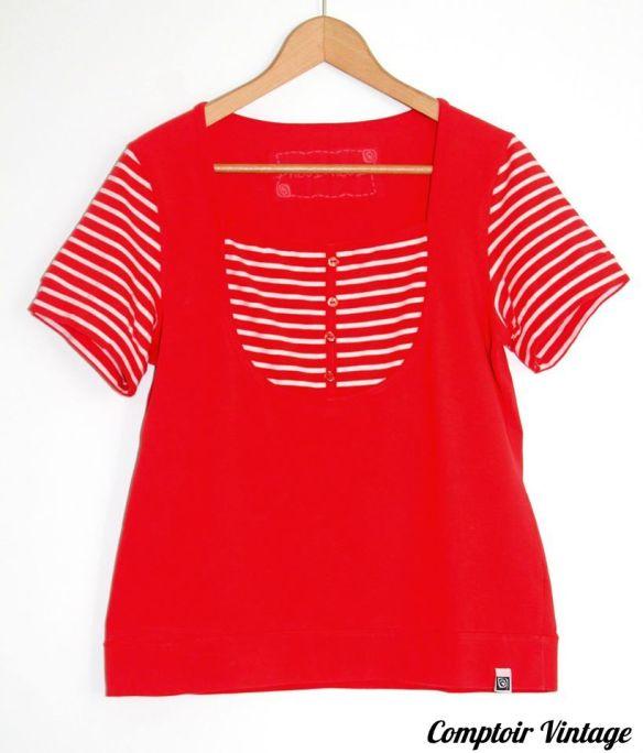 T-Shirt marin, Comptoir Vintage
