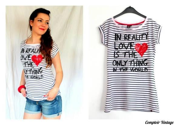 T-Shirt APRIL EVIL, rétro, T-Shirt marin, Comptoir Vintage